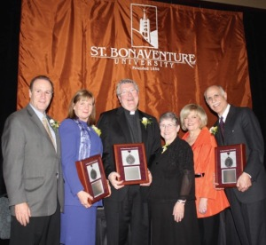 Fr. Greg Dobson was recipient of St. Bonaventure University's prestigious Gaudete Award