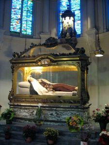 Relics of St. Theresa of Lisieux, Doctor of the Church, as venerated in the Carmel in Lisieux, France